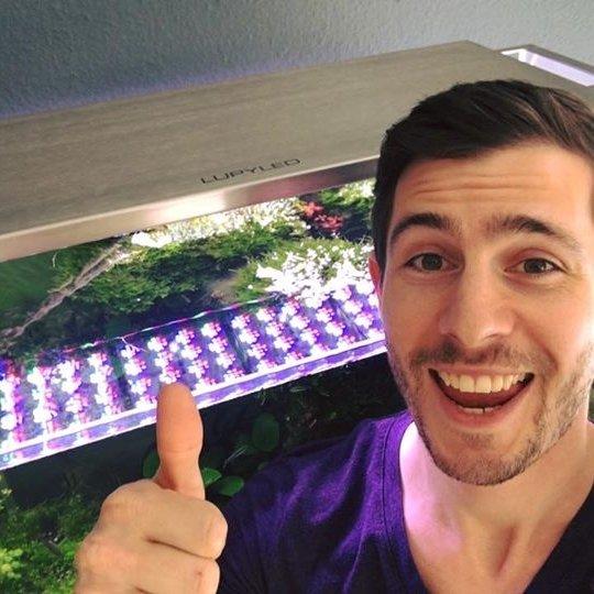 professionele aquascaper jurijs mit js met de lupyled die binnenkort op de markt komt goedkope aquarium led verlichting
